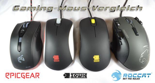 EpicGear, Roccat, Zowie: Vier Gaming-Mäuse im Vergleichstest