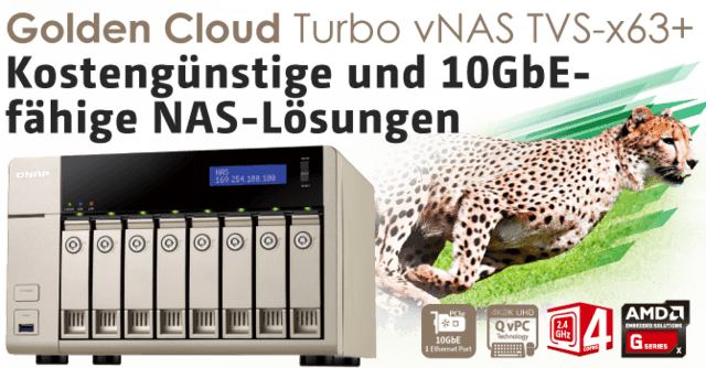 QNAP stellt die TVS-x63 und TVS-x71-vNAS-Serie vor
