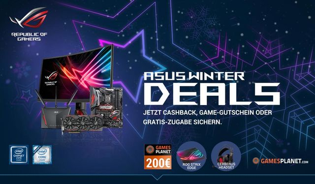 Cashback-Aktion: Asus Winter Deals